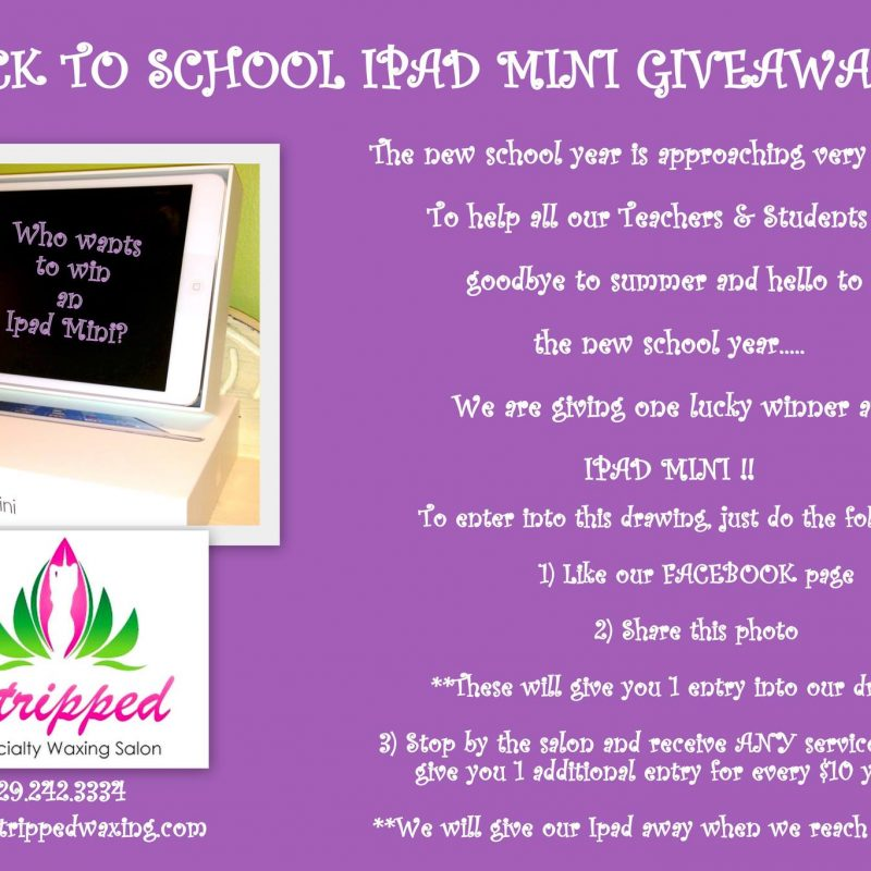 Stripped is giving away an iPad Mini for our Back to School Giveaway